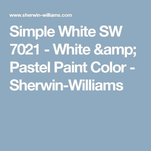 Simple White SW 7021 - White & Pastel Paint Color - Sherwin-Williams