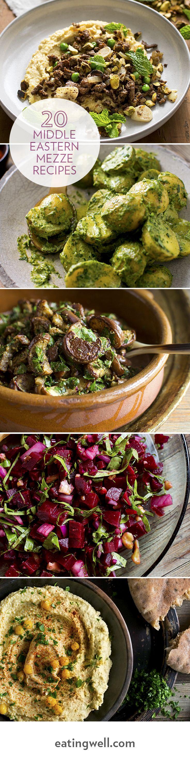 Amazing hummus, green potato salad, marinated eggplant, roasted cauliflower, lamb and more!