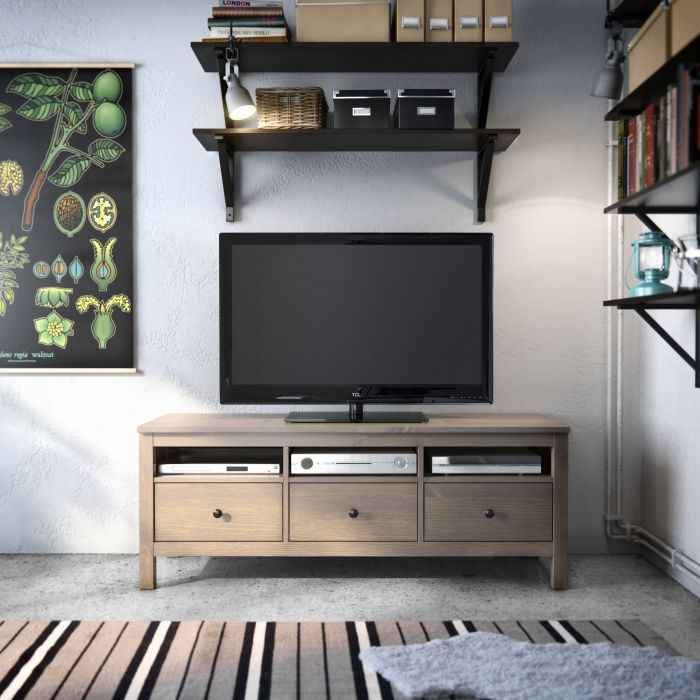 Hemnes solid wood naturally timeless home decor - Dresser as tv stand in living room ...