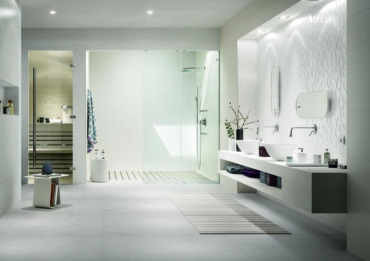 #Marazzi   #Essenziale   #Allmarble   #bathroom   #marbletiles   #walltiles   #white   #floor