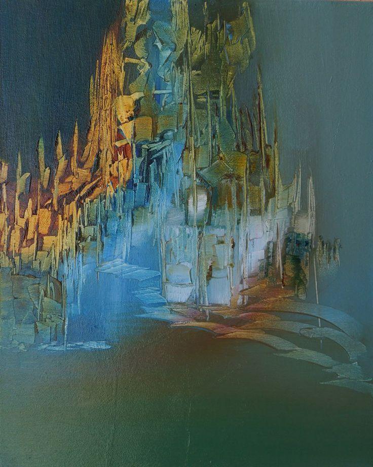"""""""La isla de los sentimientos"""" - Monica Medina - Oleo sobre tela - 50 x 40 cm www.esencialismo.com"""