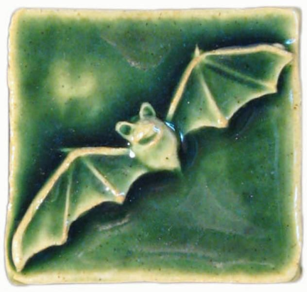 Bat 2 X2 Ceramic Handmade Tile Arts And Crafts Designer School Ideas For Swamp Pinterest Tiles Art