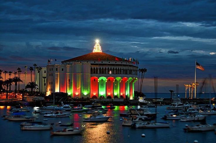 The Casino at Christmas, Avalon, Catalina Island