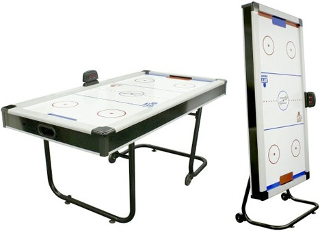 Space Saving Air Hockey Table. Game room gifts. Game room decor.