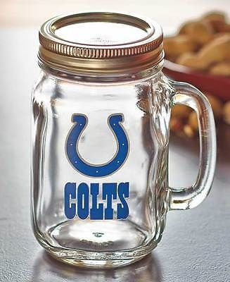 NFL-glass-Mason-Jars-with-handle-and-metal-lids-16-oz-Bears-Broncos-Colts