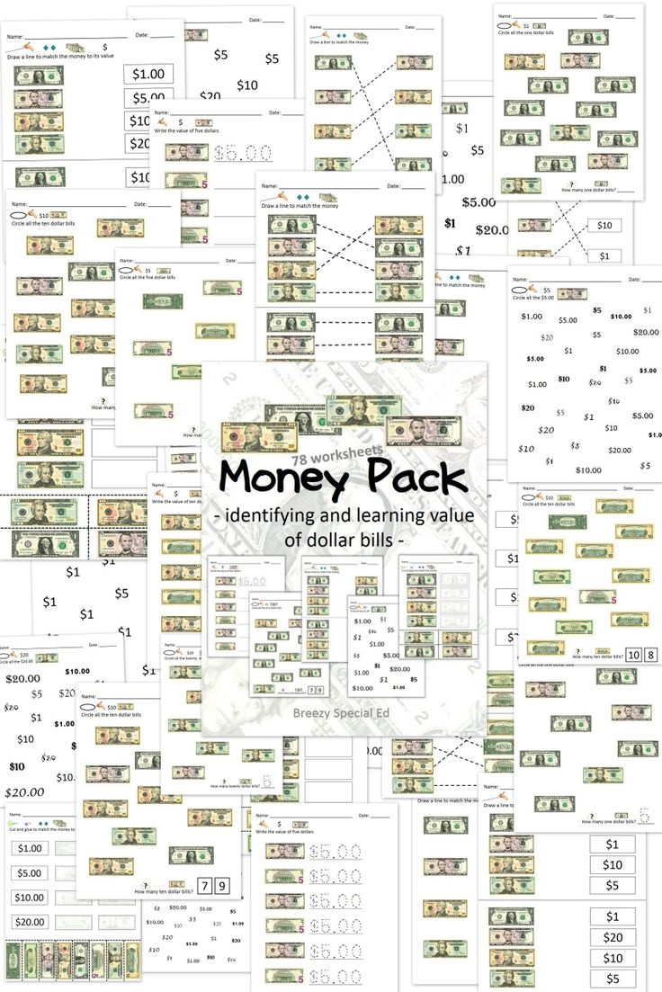 worksheet Practical Money Skills Worksheets 104 best math special education images on pinterest autism money dollar bills identification and value worksheets