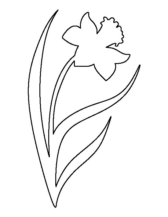 Daffodil pattern use the printable outline for crafts for Template of a daffodil