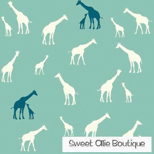 Giraffe Family knit pool - Birch Fabrics Serengeti range