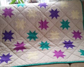 Quilted personalised blanket. Baby gift. PetBabyhome Quilt