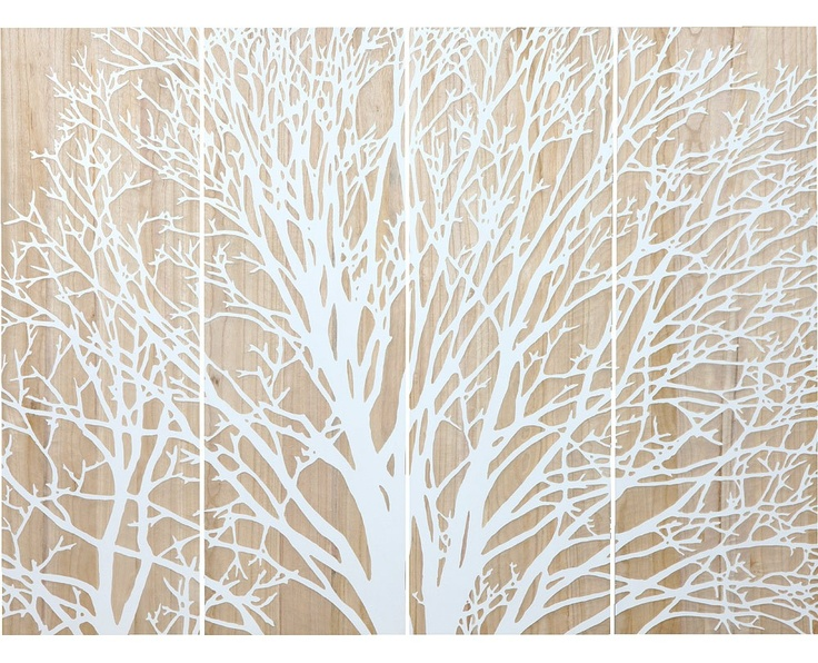 Stunning Tree Reversed Carved Wall Art - would be a fantastic headboard.