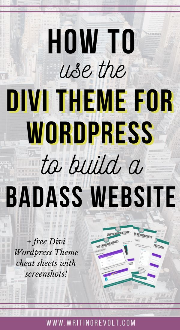 Check out this in-depth guide (with screenshots and examples!) to learn exactly how you can use the Divi Wordpress theme to build your biz or blog website! Perfect if you're a freelancer, creative entrepreneur, or blogger! :)
