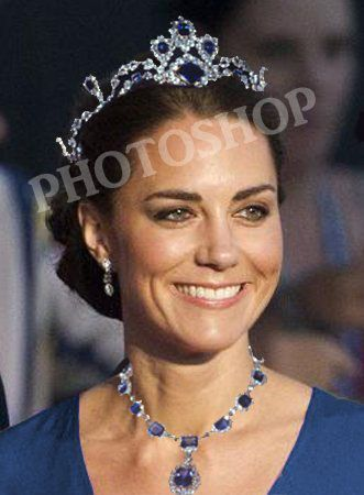 Photoshopped Photo Of Kate Wearing The Queen S Jewels