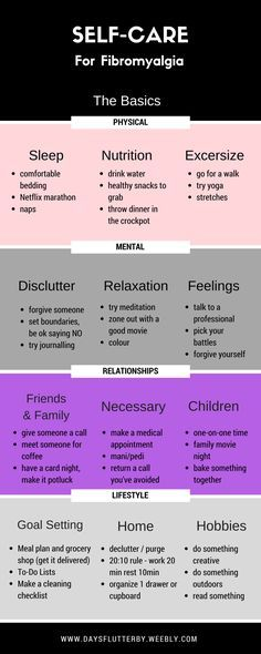 "Self-Care for <a class=""pintag"" href=""/explore/Fibromyalgia/"" title=""#Fibromyalgia explore Pinterest"">#Fibromyalgia</a>"