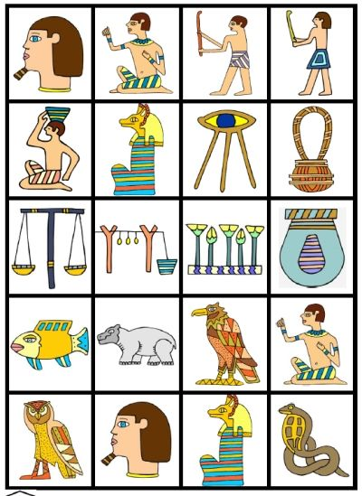 Make a memory game from the symbols of Ancient Egypt - EgyptLotto3.jpg (400×549)