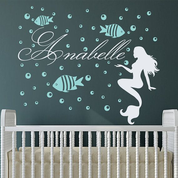 Custom Name Wall Decals Mermaid Decals Fish Nautical by DecalHouse