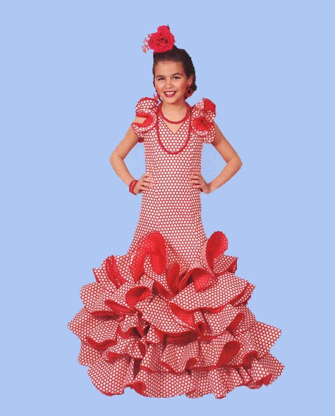 Traje de flamenca niña. mod. Lucia