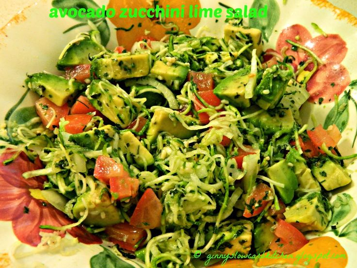 Ginny's Low Carb Kitchen: Avocado Zucchini Lime Salad - How unsual...sounds refreshing doesn't it? Visit us for more lovely recipes at: https://www.facebook.com/LowCarbingAmongFriends
