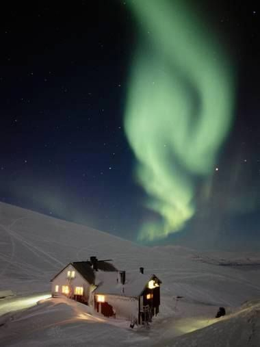 Northern lights. Looks like a genie is about to appear!