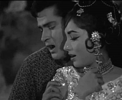 Shammi Kapoor and Sadhana.