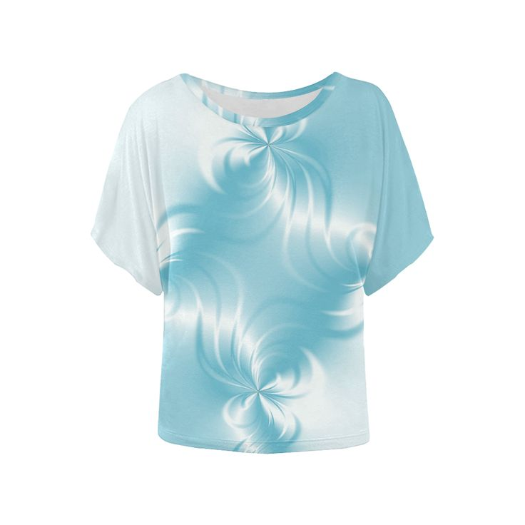 Twisted Blue Pearl Women's Batwing-Sleeved Blouse T shirt (Model T43)