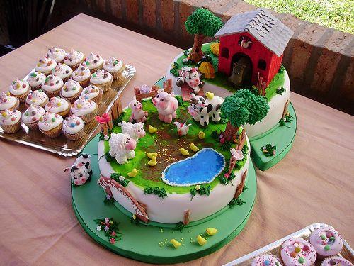 Resultado de imagen para tortas de cumpleaños de la granja