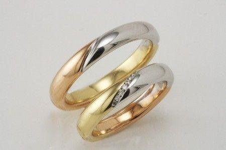 fedi con i tre colori dell'oro e brillanti
