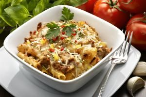 Beef Macaroni and Cheese Casserole - burwellphotography/Vetta/Getty Images