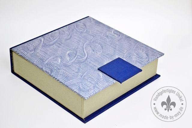 Serviettenschachtel mit blauem Kleisterpapier von Made-by-May Unikate auf DaWanda.com