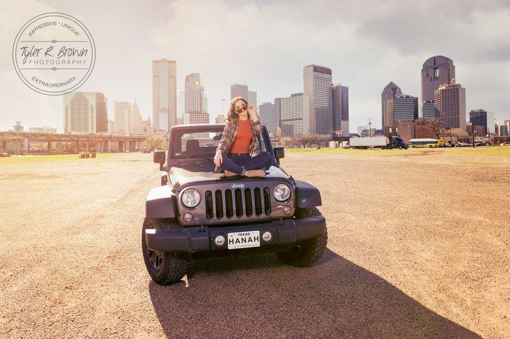 Deep Ellum - Jeep - Jeep Nation - Senior Girls Car Photos - Dallas Skyline - Texas - Dallas - Hair Ideas for Senior Photos - Senior Girl - Senior Photos - Senior Photography - High School Seniors - Dallas, Texas - DFW - Senior Girl Poses - Girl Poses - Class of 2017 - Senior - Senior Pics - Senior Pictures - Tyler R. Brown Photography