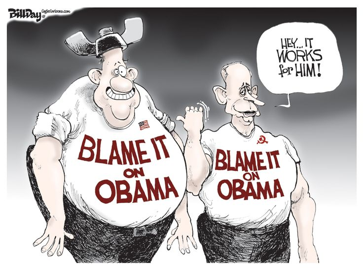 Image result for blame it on obama cartoons