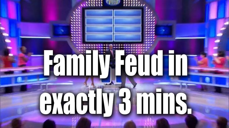 Family Feud In Exactly Three Minutes (VIDEO)