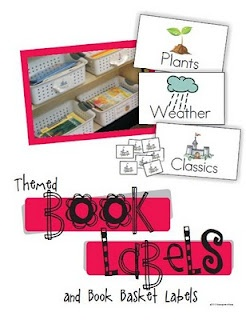 Free printable book basket labels and storage ideas.  Really useful.