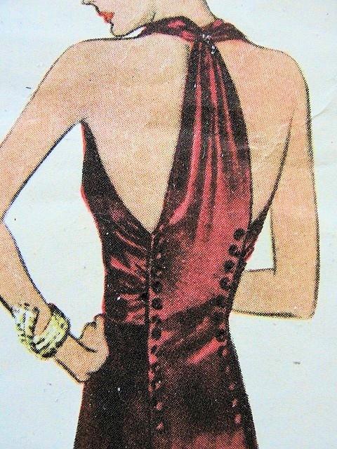1930s gorgeous art deco bias cut gown McCall 9919