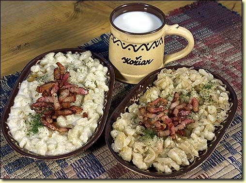 Slovak national food (Bryndzove halusky) Try them! The BEST food in europe! (After pasta)