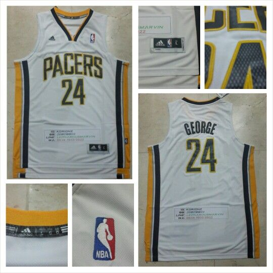 READY STOCK ! READY STOCK!!  JERSEY BASKETBALL NBA INDIANA PACERS PAUL GEORGE #24 SWINGMAN REVO30 FOR SALE Interested?  Follow us @korionz  Contact us! BB 28BCBB04 LINE Leonardusmarvin Whatsapp +62-838-7033-0922
