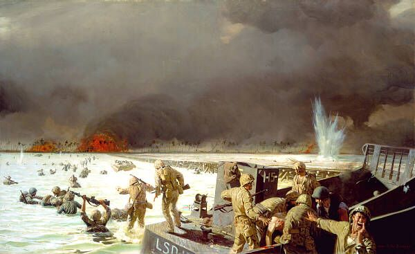 Tarawa, South Pacific, 1943 by Sergeant Tom Lovell - Battle of Tarawa - Wikipedia, the free encyclopedia