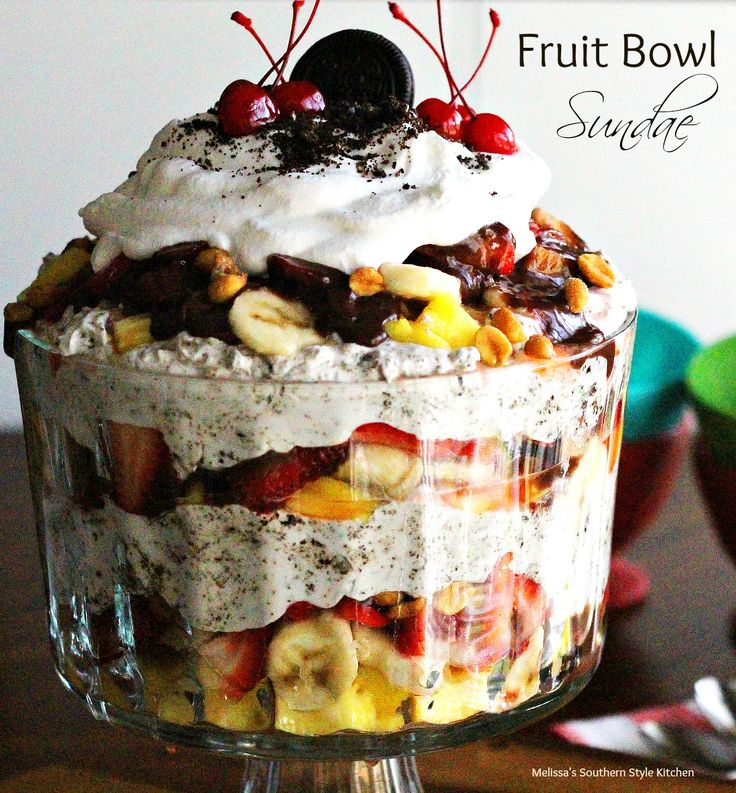 Fruit Bowl Sundae - Desserts like this fruit bowl sundae are fun to make and eat. If you're a regular visitor to my website you know I love trifles. I do, I make them all the time.