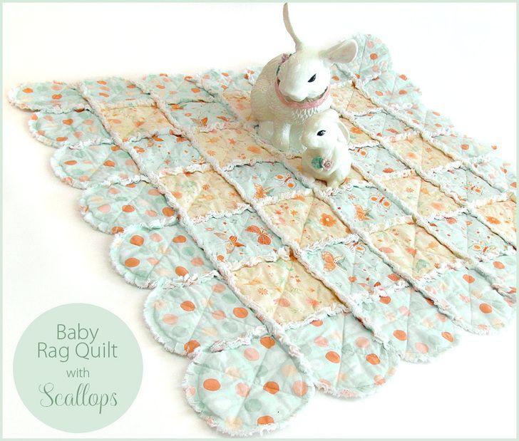 Baby Rag Quilt with Pretty Edge Scallops | Sew4Home