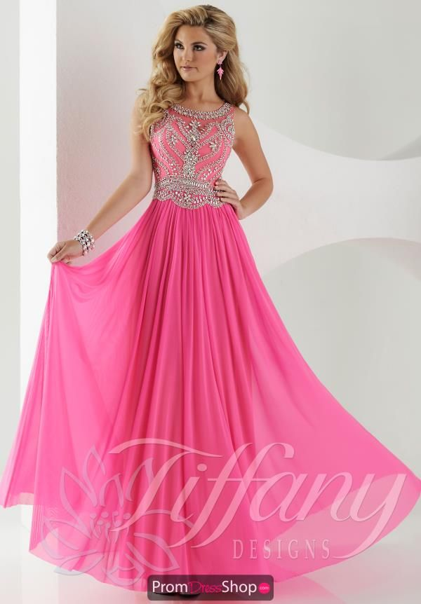 Hot Pink Tiffany Prom Dress 16152