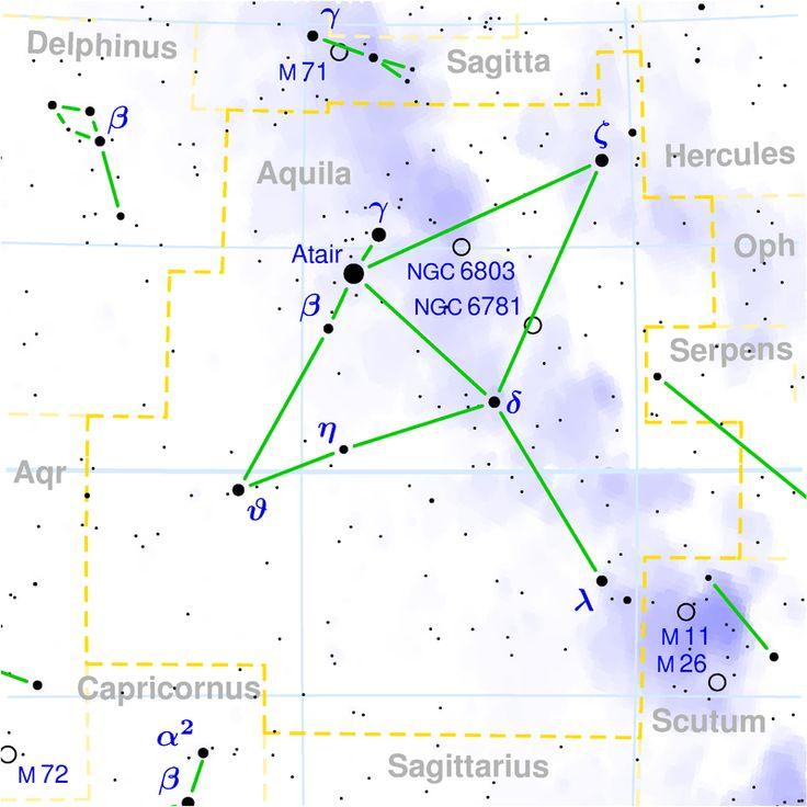 Aquila constellation map List of Nakshatras Wikipedia