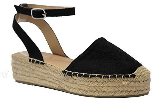 c09bf5308a808 Amazon.com | MVE Shoes Women's Braide Espadrille Platform Adjustable ...