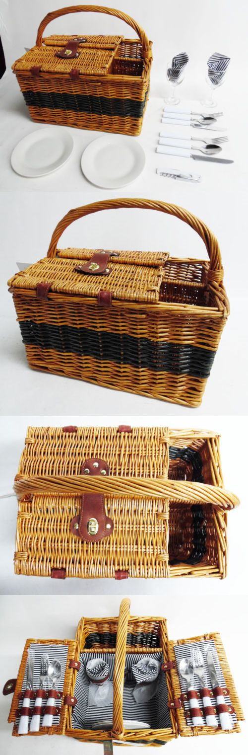 Picnic Baskets and Backpacks 38249: Picnic Plus Largo 2-Person Picnic Basket Set With Cutlery, Plates, Wine Glasses -> BUY IT NOW ONLY: $39.99 on eBay!