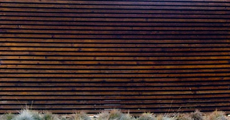 Horizontal Wood Slat Fence On Concrete Wall Google
