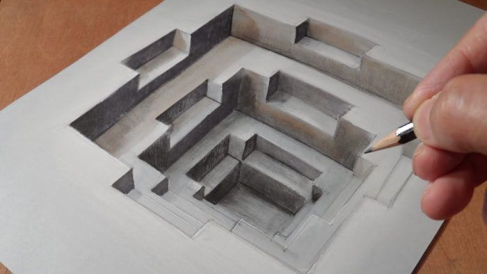how to make 3d paper illusions