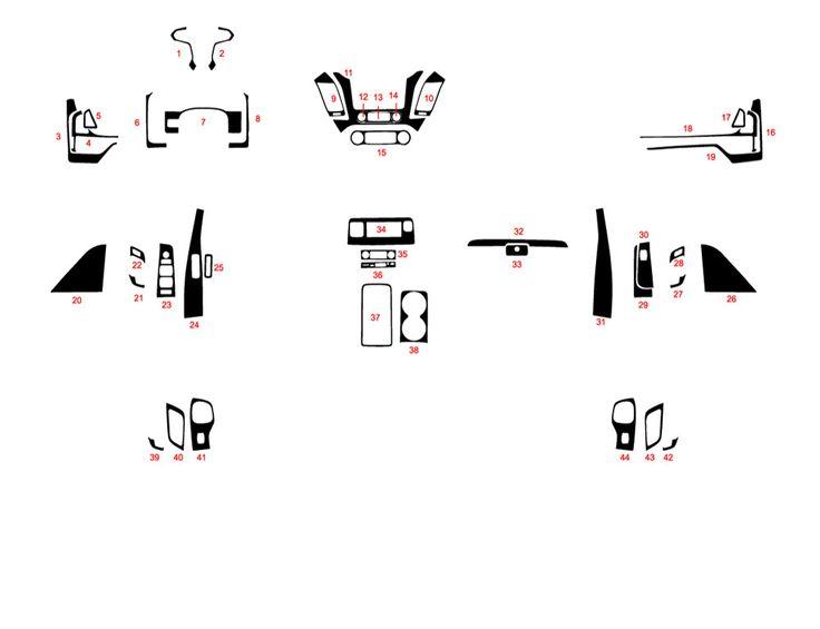 Chevrolet Suburban 2015-2018 Dash Kit Diagram (With images