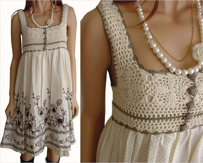 crochet & cloth dress
