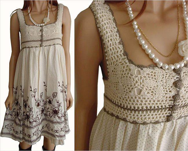 crochet & cloth dress