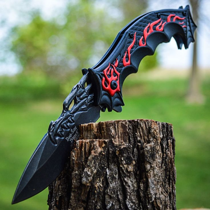 "9"" DRAGON FLAME Tactical Ninja SPRING ASSISTED OPEN Cosplay Folding POCKET KNIFE in Collectibles, Knives, Swords & Blades, Folding Knives 