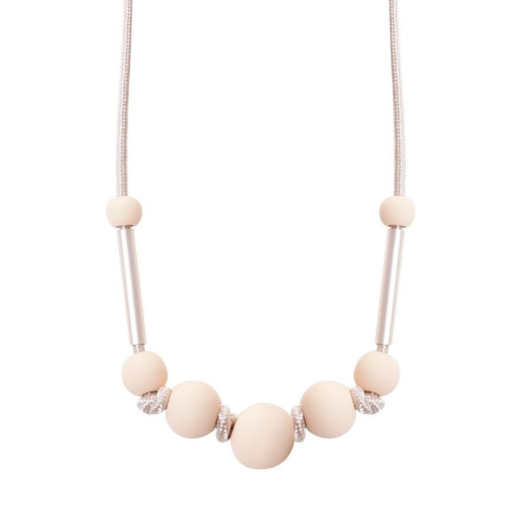 This necklace immediately adds texture to your look, with geometric features and multiple finishes including metal and rubber, this necklace instantly becomes the hero of any outfit.