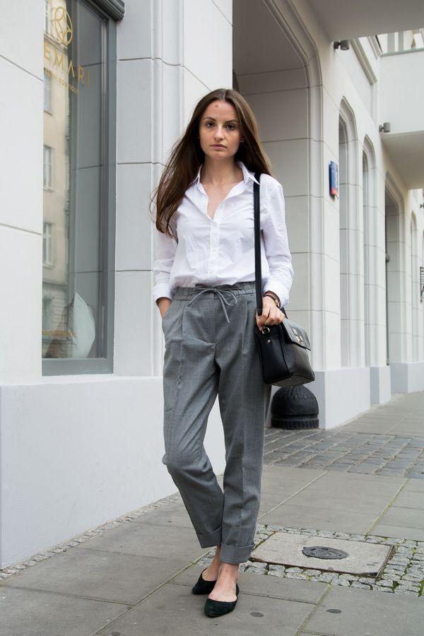 Wool moment #wool #trousers #fall #white #shirt